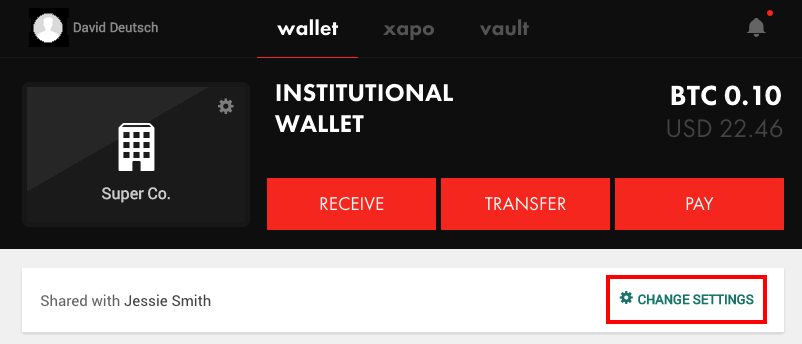 How do i grant wallet access to another individual in my institution in your institutional wallet settings under who can access this wallet as seen below you will see all individuals with access to the wallet ccuart Image collections