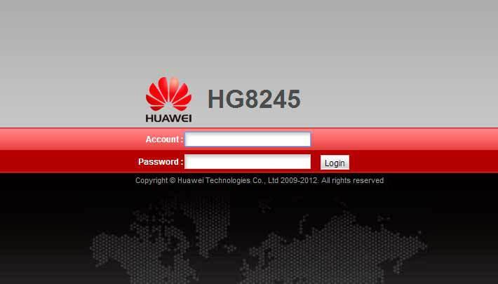 modem Wi-Fi Huawei HG8245H
