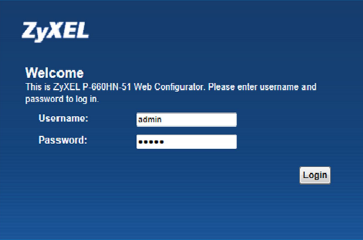 modem Wi-Fi Zyxel VMG-1312-B10B