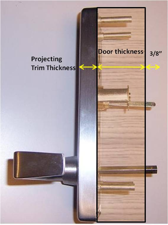 What Is The Maximum Door Thickness A Rim Cylinder Can Fit On